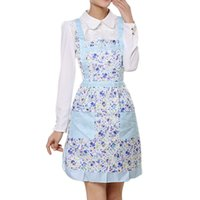 Wholesale Wholesale Aprons For Women - Cooking Aprons for Woman Cotton Bib Kitchen Apron Thicken Waterproof Printing Princess Cooking Apron Dress with Pocket JE0155