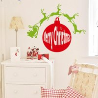 Wholesale christmas window art - Christmas window decoration stickers xmas home decorations vinyl wall decals new design