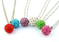 Wholesale Wholesale Shambala Necklace - Shambala Ball Necklace White Crystal Ball 925 Sterling Silver Jewerly 2016 Necklace Women Cheap Fashion Jewelry