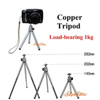 Wholesale Camera Tripod Bearings - Wholesale-Load-Bearing 1kg Mini Tripod Metal Stand Holder tripe + Phone Supporter For Camera Mobile Phone Cellphone For iPhone Samsung