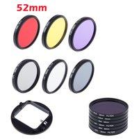 Wholesale Nd2 Nd4 Nd Filter - 52mm UV CPL FLD ND2 ND4 ND8 ND Lens Filter Kit For Nikon D7000 D5200 D3100 D3200 18-55MM Lens Hood Cap ZM00087