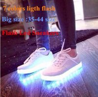 Wholesale Colorful Womens Shoes - Big Size 2015 Flash Led Sneakers New Mens Womens Sneakers Luminous USB Charging Colorful LED lights Sneakers Casual Flat Shoes