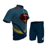 toison de cube achat en gros de-Super héros Adolescents d'été à manches courtes cyclisme maillot et pant costumes garçons bonne qualité vélo / équitation sport porter, livraison gratuite