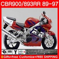 Wholesale fairing cbr893 92 resale online - CBR RR For HONDA CBR900RR red black CBR893RR NO25 CBR893 RR Fairing