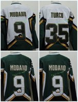 Wholesale 3xl Hockey - Dallas Stars #9 Mike Modano 2005 Green White #35 MARTY TURCO 2003 CCM Throwback Home Stitched Vintage Hockey Jerseys Size S-3XL