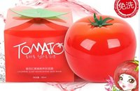 Wholesale Acne Body Cream - 100pcs 2016 Free Shopping Korea Tonymoly Tomatox Tomato Magic Massage whitening moisturizing 3 minute effective mask Cream 80g