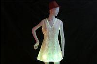 kadınlar için hazır giyim toptan satış-Fiber optik LED elbise kadın kostüm aydınlık giyim Karnaval kostüm aydınlık elbise ücretsiz kargo