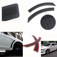 mitsubishi lancer carbon venda por atacado-Para mitsubishi acessórios do carro da frente de malha preta pp fibra de carbono pára-choques de ventilação eVO adesivo para mitsubishi lancer 2008_2015 2 pcs
