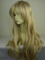 Wholesale Gold Lace Wig - 26 '' lolita long wigs drag queen wigs synthetic lace front wig gold heat resistant curly wig fresh and lovely Fashion new 2015