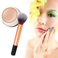 Wholesale Naked Skin Bb Cream - Hot Sale BB Cream Professional Naked Concealer + Golden Handle Brush Makeup Base Foundation Concealers Face Powder