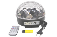 Wholesale Magic Jumping Light Ball - DMX Voice Control 6*Channels Remote Control Stage Light Crystal Magic Ball Led RGB Light with U-Disk EU Plug