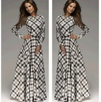 Wholesale Stripes Evening Dress - Women Sexy Bohemia Long Dresses Evening Party Fashion Dress Long Sleeve Stripe 2015 Autumn Winter Slim A Full-Length Dresses CC-412