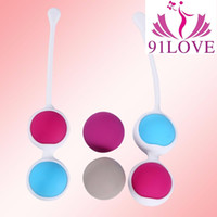 Wholesale Double Ball Vibrator - 91LOVE Smart Vibrator Shrink Yin Ball Massager Ben Wa Ball Weighted Vaginal Tight Exercise Dumbbell Adult Products Sex Toys For Woman