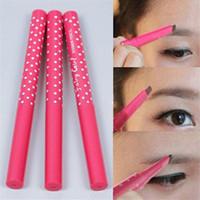 Wholesale Powder Liner - Newest Waterproof Dark Brown Eyebrow Enhancer Eyebrow Pencil Eye Brow Liner Powder Shapper Makeup Tool free shiping