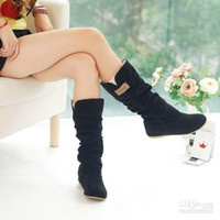Wholesale Newest winter woolen lady snow boots sexy bleak orange brown women boots WLY662