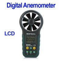Wholesale-Digital-Anemometer Elektronische Windgeschwindigkeit Luftvolumenmess Meter mit Temperatur Feuchte USB Freeshipping Data Upload