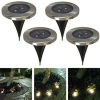 Wholesale Solar Ground Outdoor - Bright 2LED Outdoor Solar Ground Lamp New LED Garden lawn light Solar Powered Led Underground Lights