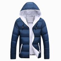 mens parka hood toptan satış-Güz-Yeni 2016 Erkekler Kış Ceket Parka Sıcak Ceket Ile Hood Mens Pamuk Yastıklı Ceketler Ve Palto Jaqueta Masculina Artı Boyutu C004
