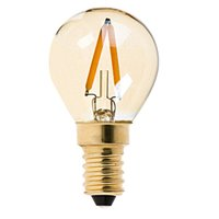 Wholesale E14 1w Warm - Gold Tint,G40 Globe LED Filament Bulb,1W,E12 E14 Base,Ultra warm white 2200K,Decorative Lighting,Dimmable