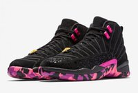 Wholesale Dance Sneakers New - Air retro 12 Doernbecher basketball shoes Wholesale New arrivel 12s Doernbecher Black Hyper Violet-Pink Blast dancing best quality Sneaker