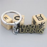 Wholesale Lol Key Chains - League of Legends Letter Key Chain LOL Bronze Key Ring & Car Key Chain Jewelry For Gift
