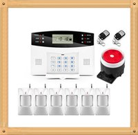verdrahtete alarme großhandel-Authentische Wolf Guard Alarm System APP Control Alarmanlage Wireless und Wired Zonen GSM Alarm System Home Security