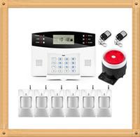 wireless alarm systems achat en gros de-Système d'alarme authentique Wolf Guard APP Contrôle de l'alarme antivol Zones sans fil et filaires Système d'alarme GSM Sécurité à domicile