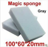 200 pcs lot Gray Magic Sponge Eraser Melamine Cleaner,multi-functional Cleaning 100x60x20mm Wholesale Retial Free Shipping QD11