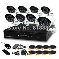 DIY 8 Canal IR à prova de intempéries Surveillance Camera Kit CCTV Home Security 8CH DVR Gravador de Vídeo Sistema