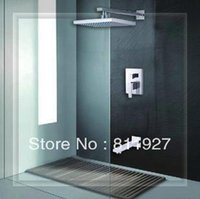 Wholesale Glass Waterfall Shower Mixer - Wholesale-High level square shower mixer faucets set for bathroom with discount for promotion fast delivery waterfall glass wall faucet ha