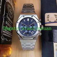productos importados al por mayor-2019 Factory Outlet Nuevo Producto 3A Calidad Hombres Plata Blanco Reloj de Acero Inoxidable Import VK Cuarzo Segundos Multifunción 42mm Reloj de los hombres