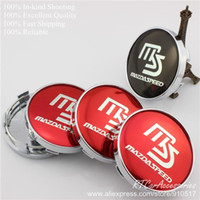Wholesale Mazdaspeed Badge - [Car Tuning] 60mm MS Red   Black MAZDA SPEED Wheel Hub Cap Emblem Badge Fit Replaced Rim With 2.36inch MazdaSpeed Center Cap
