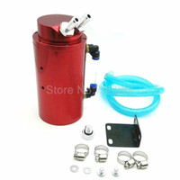 Wholesale Fuel Tank Fittings - NEW 500ML ALUMINUM AUTO CAR ENGINE MODIFIED OIL CATCH TANK BREATHER RESERVOIR CAN RED FIT MOST CARS
