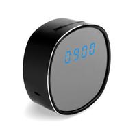 Wholesale mini video clock for sale - New Full HD P WiFi Wireless Clock Camera IR Night Version Mini DV Digital Table Clock Video Camcorder Remote Home Security Camera