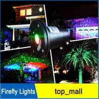 Wholesale Laser Dot Projector - Waterproof Outdoor Laser Lights Firefly Lights Landscape Red Green Laser Dot Projector for Lawn and Garden Home Decor Lights by DHL 002938
