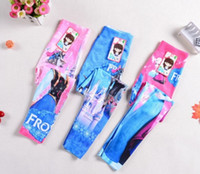 Wholesale Trousers Designs For Girls - 30pcs 2015 NEW Frozen Leggings For Girls Kids Princess Elsa Long Pants Tights Trousers Babies Clothes Children Clothing 6pcs Design