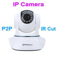Wholesale waterproof wi fi camera for sale - Group buy T6835WIP Plug Play P2P IP Network Camera Wi Fi Pan Tilt IR Cut Two Way Audio Micro SD Card Slot