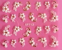 3d blumenmaterial großhandel-Am besten DIY Nagel-Schönheits-Materialien 3D weiße Blumen-Nagel-Aufkleberkunstdekorationsmaniküre Adesivo de Unha unhas Nagel bearbeitet JIA034