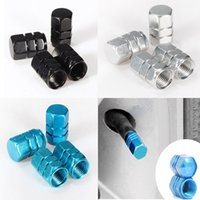Wholesale Track Bike Wheel Cover - 4pcs black blue white Car Truck Tire Type Wheel Valve Stem Caps Covers Cars Motorcycles Bike order<$15 no tracking