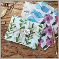 Wholesale Korean Stationery Stickers - Wholesale- 3 pcs Colorful Flower Pattern Transparent Litmus Paper Envelope Gift in Party Wedding Korean Stationery with stickers 03243