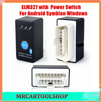 Wholesale Porsche Switch - 2015 Super Quality Bluetooth ELM327 OBD2 OBD-II CANBUS Diagnostic Car Scanner Tool+Power Switch works on Android Symbian Windows
