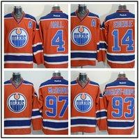 Wholesale Quality Custom Linens - 2017 Mens alternate premier edmonton hockey oilers New American Jerseys custom Embroidery Connor mcdavid Wayne Gretzky Milan top quality