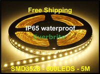 Wholesale free christmas door decorations - Free Shipping Christmas Lights LED Strip Ribbon 3528 SMD 600 LEDs 5m IP65 Waterproof Out Door DC12V High Brightness High Lumen,High quality