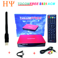 Wholesale Satellite Receiver Sks - TOCOMFREE S929 ACM Satellite Receiver WiFi DVB-S2 Twin Tuner IKS SKS IPTV ACM H.265 For South America better tocomfree s989