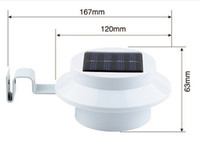 Powered 3 LED ABS ON Fence / OFF gros-Solar Gutter White Light Outdoor cour jardin mur Lobby Pathway Lampe Lanterne IP55