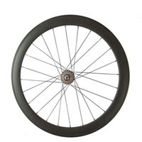 Wholesale Free Wheel Gear - Wholesale-FREE SHIPPING 700c 50mm clincher carbon track bike wheels fixed gear Single speed bicycle wheelset