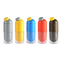 Wholesale Cup Corn - Natural Biodegradable Corn Starch Plastic Capsules Sport Water Bottle Coffee Cup in 1 Creative environmental Multifunction