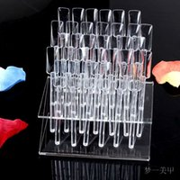 Gros-New stand Nail Art 32 Afficher Conseils Nail Display Nail Outil de formation pratique amovible Rack + Display Plate