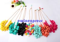 Wholesale Cheapest Priced Jewelry Wholesale - Hot New Earrings & Necklace Popular Beaded Drop Necklace Chain With Earring Jewelry Sets Multi Hot Sale Cheapest Price