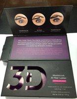 Wholesale Eyelash Formula - 1030 version Lengthening 3D fiber lashes+ Mascara eyelash makeup NEW Formula 1set=2pcs 3D Fiber Lashes Plus Mascara